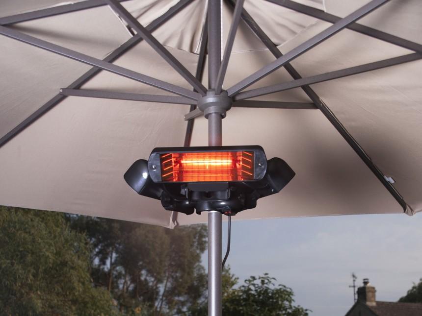 elektrische-infrarood-verwarming-voor-parasol-en-partytent-sunbeam-2400-bevestigd-op-parasol
